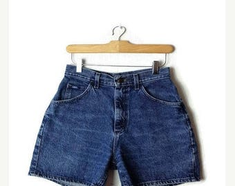 ON SALE Vintage Lee  Blue Denim Shorts from 90's/W25*
