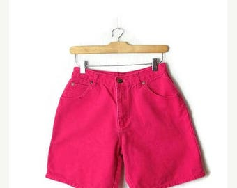 ON SALE Vintage Vivid Pink Denim Shorts from 90's/W27*