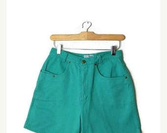 ON SALE Vintage Mint Green High waist Denim Shorts/W25*