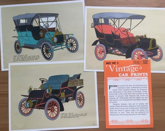 Readers Digest Set of Three Car prints