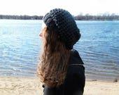 Slouchy Hat Slouchy Crochet Beanie Hat Womens Slouchy Baret Crochet Women Hat Slouch Hat Grey Hat THE FRANKIE