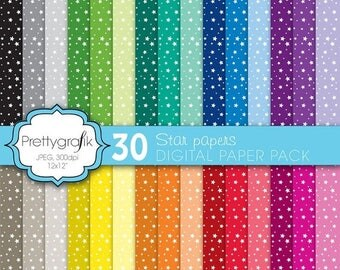 80% OFF SALE star digital paper, commercial use, scrapbook papers, background  - PS582