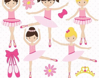 80% OFF SALE ballerina clipart commercial use, vector graphics, digital clip art, digital image, dancing - CL533