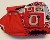 Ohio State Go Buckeyes Poop on Michigan AIO All in One Cloth Diaper Rival Team Reusable Diaper