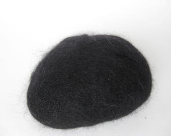 TWO BALLS of Black Vintage Angora yarn, Angora 70