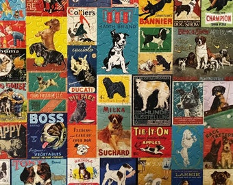 Vintage Dogs Assembled Jigsaw Puzzle