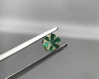 Trapiche Emerald slice Muzo Mine Colombia E0189