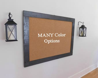 Extra Large FRAMED BULLETIN BOARD - 36 x 48 - Industrial Cork Board - Shown in Graphite Gray - More Colors to Choose From
