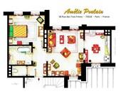 Floorplan of AMELIE's apartment in Montmartre
