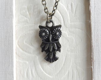 Owl necklace,Owl jewelry,Animal jewelry,Necklaces,Jewelry,Minimalist jewelry,Unique gift for her