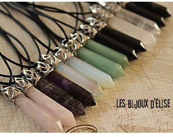 Crystal Pendant Quartz Necklace Pendulum Crystal Divination Reiki (CO52)