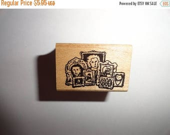 50% OFF Picture frames  rubber wooden stamp 1.5 inch by 1 inch