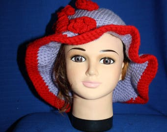 large circular purple and Red Hat