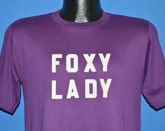 80s Foxy Lady Fuzzy Letters t-shirt Medium