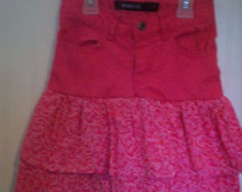 Recycled Jordache Girls Size 6 Jeans NOW as Sassy Skirt