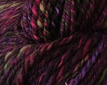 Handspun 100% Polwarth wool 3-ply yarn