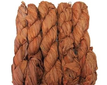 SALE New! Sari Silk Ribbon, 100g , Color: Copper
