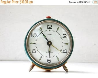 ON SALE Vintage Mechanical Alarm Clock - VITYAZ - Made in Ussr