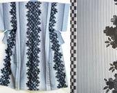 Gray black striped kimono...