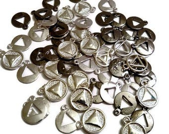 60 Pc AA Charm Blow Out! Irregular Charms *Drastically Reduced*  Alcoholics Anonymous
