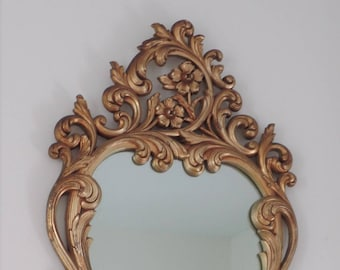 Tall Heavy Ornate Mirror by Burwood Products-3 Feet!