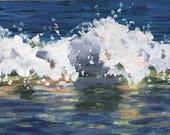 Original Art, Portrait of a Wave, Acrylic Painting