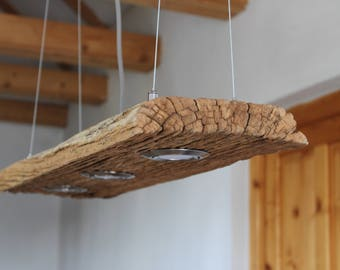 Hanging lamp - antique staircase