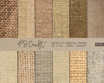 15% OFF Natural Burlap Digital Papers, Fabric Texture Digital Papers, Burlap Pattern