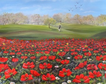 The red poppy golf course