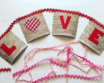 LOVE banner - Love Bunting - Valentine's Day