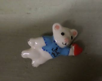 Vintage Flying Colors I Love You Animal pin, brooch 1980's