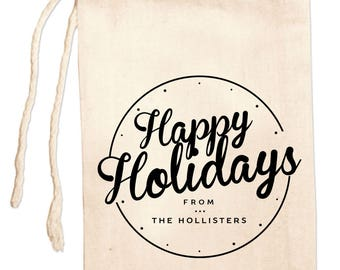 Holiday Gift Bags, Holiday Party Favors, Personalized Holiday Favor Bags, Holiday Bags, Custom Holiday Bags, Holiday Party Favor Bags