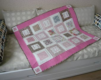 Soft cover Liberty and embroidery patchwork