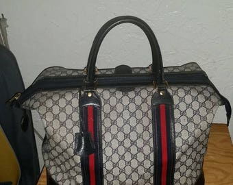 SALE today only! Vintage authentic GUCCI Travel Bag from the 80's