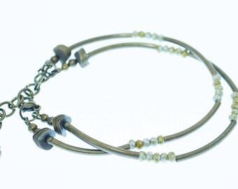 Bohemian Double Antique Brass Bracelet