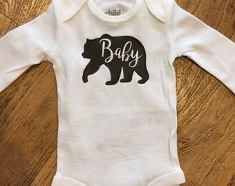 Baby Bear Long Sleeve Onesie Baby Bear Onesie