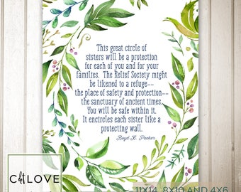 Relief Society Quote - INSTANT Downloads