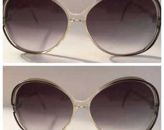 Vintage French Sunglasses by Brigitte Bardot, Huge Round Incognito Shades! 1970's, Made in France