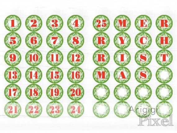 Printable Green Advent Calendar