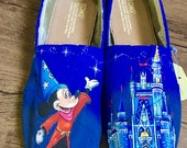 HAND PAINTED Mickey Mouse/ Disney Castle Toms