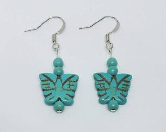 Earrings - Turquoise Butterfly