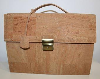 Cork Executive Briefcase - VEGAN