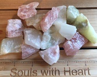 Watermelon Calcite Natural Raw Stones, Healing Stones, Spiritual Stone, Healing Stone, Healing Crystal, Chakra