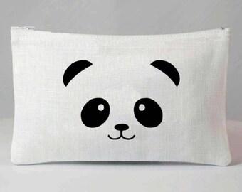 White linen, panda pattern Kit