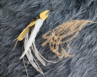 Golden Horizons Single Feather Earring