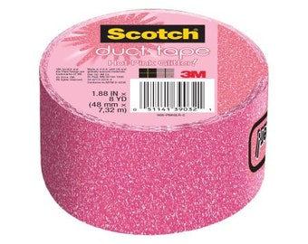 Duct Tape, Hot Pink Glitter, 1.88-Inch x 8-Yard, Tape easily unwinds By Scotch