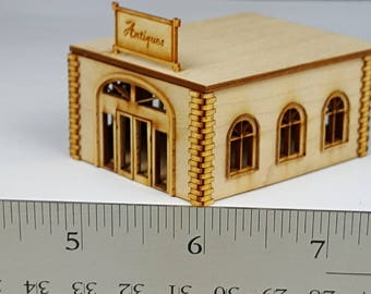 Miniature Antique Shop KIT - 144th scale unassembled pieces