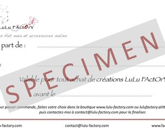 Good gift LuLu FActOrY value 50 euros