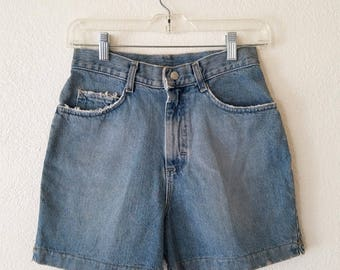 LEE Denim Shorts Snap Button Clip Zip Up Size 16 Original 90s Women USA