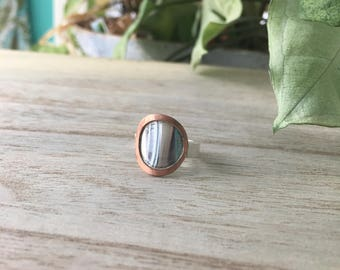 Silver Disc with Copper Frame